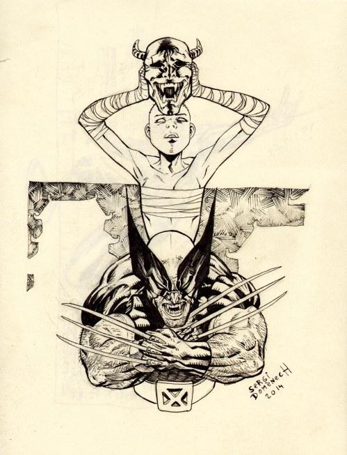 Wolverine & Shadow Cat skecht Web