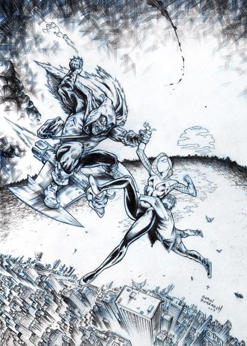 Spider Gwen web