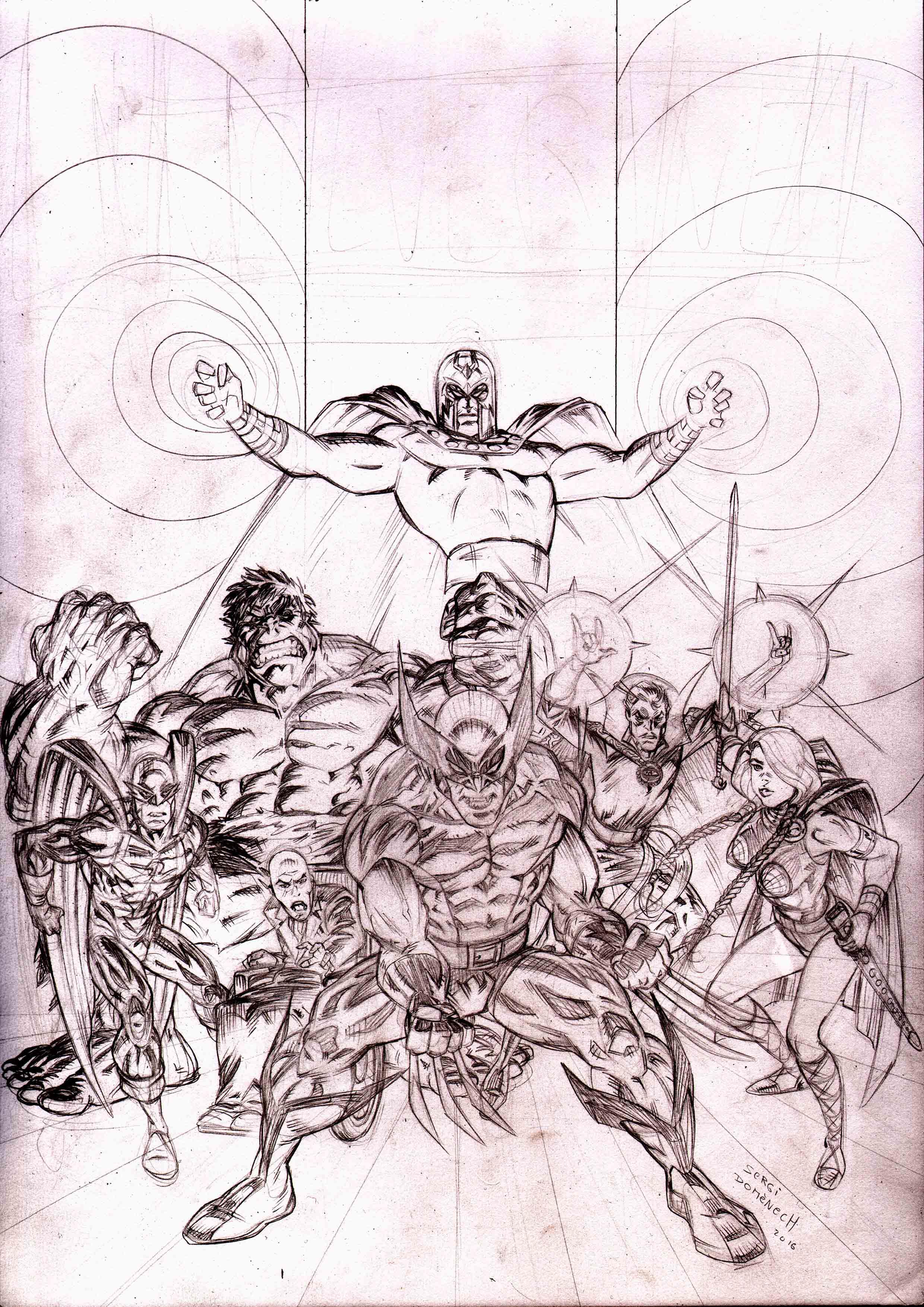 Cover Wolverine Sketch